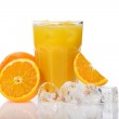 Постер, плакат: Glas of fresh cold orange juice