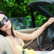 Woman in car — Stock Photo