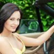 Stock Photo: Woman in car