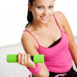 Woman during fitness exercise — Stock Photo #2455293