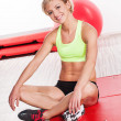 Smiling woman at gym — Stock Photo #30844639