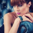 Foto de Stock  : Beautyful young womportrait. jewerly and diamonds