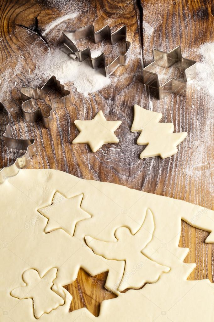 Baking Christmas Cookies — Stock Photo #12396894