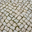 Stock Photo: Old basalt pavement