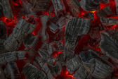 Brasas rojas — Foto de Stock