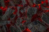 Czerwony żar — Zdjęcie stockowe