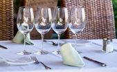 レストランのテーブル — ストック写真