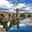 Besalu, medieval village — Stock Photo