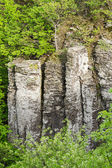 Columnar basalt — Stock Photo