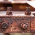 Corrosive rusted bolt — Stock Photo