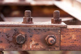 Corrosive rusted bolt — Stock Photo