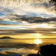 Beautiful sunrise over the lake Balaton of Hungary  — Stock Photo