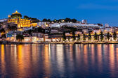 The historic centre of Porto at night — Stock Photo