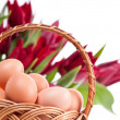 Royalty-Free Stock Photo: Eggs in wickerwork