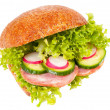Stock Photo: Sandwich of graham roll