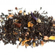 Dried tea with ginkgo - Stock Photo
