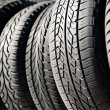 Stock Photo: Black tires