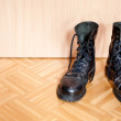 Black army boots — Stock Photo
