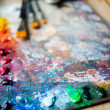 Oil color paints — Stock Photo