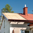 New roof on house — Stock Photo