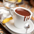 Stock Photo: Hot dark chocolate