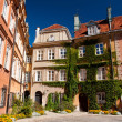 Old Twon in Warsaw, ivy on building — Stock Photo