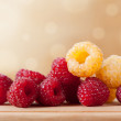 Fresh raspberries — Stock Photo #31353437