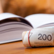 Stock Photo: Money and book