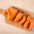 Stock Photo: Deformed carrots