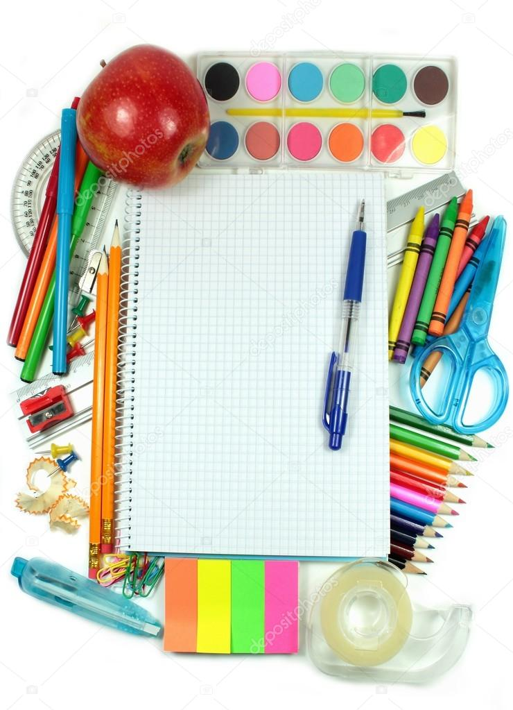 Colored accessories for school — Stock Photo #12158355