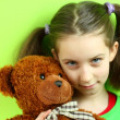 Royalty-Free Stock Photo: Little girl with teddy bear