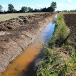 Water drain on the rural landscape, Poland — Stock Photo