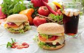 Hamburger with fresh vegetables — Stock Photo