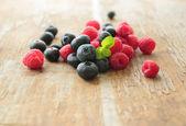 Frutti lamponi e mirtilli — Foto Stock