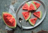 Fresh watermelon pieces — Stock Photo