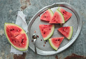 Fresh watermelon pieces — Stock Photo