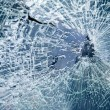 Close-up broken car windshield - 
