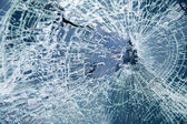 Close-up broken car windshield — Stok fotoğraf