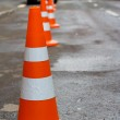 Orange safety cones — Stock Photo #1855237