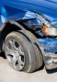 The Wrecked Car — Stock Photo