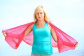 Lichaam van de vrouw zomer plezier concept — Stockfoto