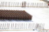 Construcción sitio concreto de acero — Foto de Stock