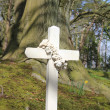 Stock Photo: Cross grave headstone
