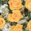 Yellow rose and white common lilac wedding flowers — Stok fotoğraf