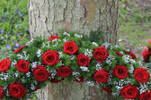 Detail of a funeral wreath — Stock Photo