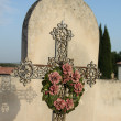 Foto Stock: Cast iron cross ornament