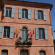The town hall in Roussillon, Provence - 图库照片