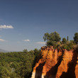 Ochre rocks in Roussillon - 图库照片