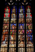 Stained glass in a church in Aix en Provence — Stock Photo
