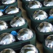Steel jeu de boule balls - Foto Stock